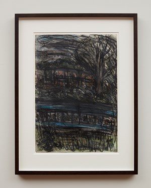 Train by Night No. 3 by Leon Kossoff contemporary artwork