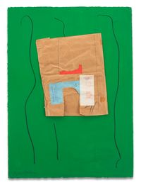 Bowes & Bowes with Green by Robert Motherwell contemporary artwork mixed media