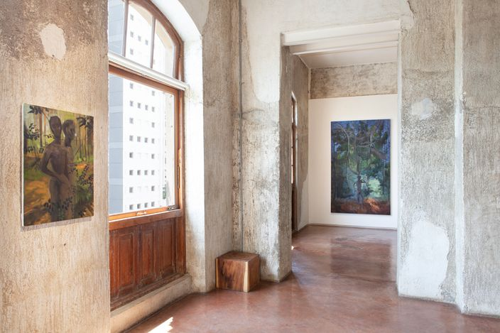 Exhibition view: On Earth We're Briefly Gorgeous, Jhaveri Contemporary, Mumbai (11 March–29 May 2021). Courtesy Jhaveri Contemporary. Photo: Mohammed Chiba.
