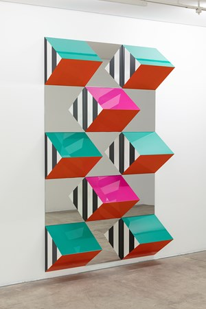 Prisms and Mirrors, high relief - n°XXIII: situated work by Daniel Buren contemporary artwork