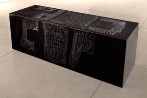 Inscribed Formica Bench by Sterling Ruby contemporary artwork