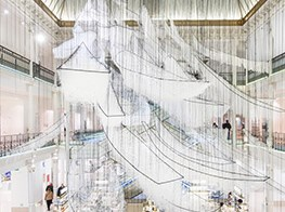 A New Large-Scale Installation of Boats and Tangled Thread by Artist Chiharu Shiota