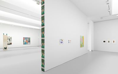 Exhibition view: Group Show, People Who Work Here, David Zwirner, 19th Street, New York (30 June–5 August 2016). Courtesy David Zwirner, New York.