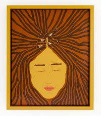 The one with the head lice by Claudia Kogachi contemporary artwork painting