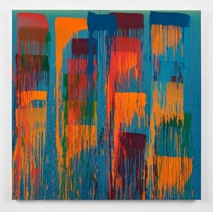 Considering Rothko #4 by Pat Steir contemporary artwork painting