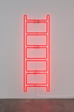 Emergency Ladder by Iván Navarro contemporary artwork