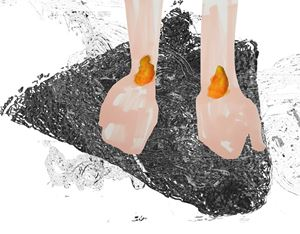 Wrists on Fire (from the series: Revisiting Fear) by Tamara K. E. contemporary artwork