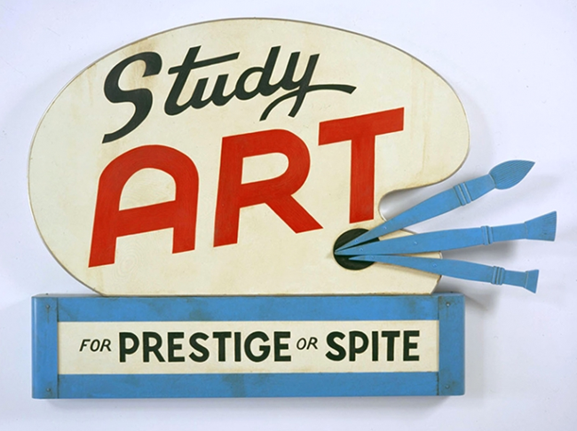 Study Art Sign (For Prestige or Spite) by John Waters contemporary artwork