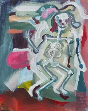 Waving Skeleton by Simon Blau contemporary artwork
