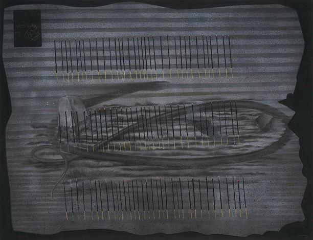 Abul Hisham, Recitation 5—A Hundred Lights(2018). Soft pastel and water based pigment on paper. 122 x 152.4 cm. Courtesy Galerie Mirchandani + Steinruecke, Mumbai.