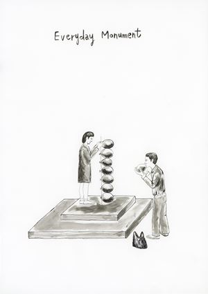 Public Blank – Everyday Monument by Gimhongsok contemporary artwork painting, works on paper, drawing