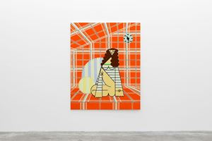 Seated Woman with Sailor Top by Farah Atassi contemporary artwork