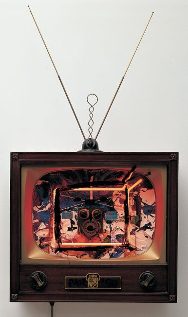 Neon TV - Buttons by Nam June Paik contemporary artwork