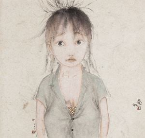 Cuteness by Liu Qinghe contemporary artwork painting, works on paper, drawing