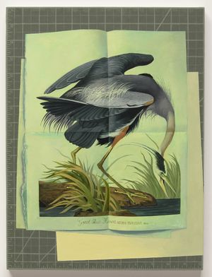 great blue heron by Olivia Jia contemporary artwork