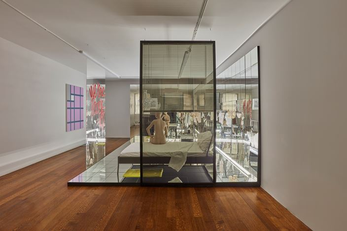 Exhibition view: Josephine Meckseper, Scene VI, Timothy Taylor, New York (24 January–9 March). Courtesy Timothy Taylor.