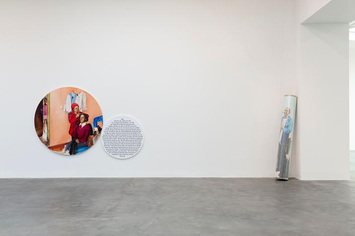Exhibition view: Meleko Mokgosi, Democratic Intuition, Gagosian, Britannia Street, London (29 September–12 December 2020). © Meleko Mokgosi. Courtesy Gagosian.Photo: Lucy Dawkins.