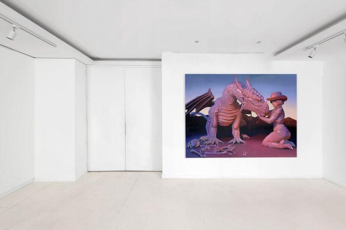 Exhibition view: Emma Stern, Boy, It Feel Good To Be A Cowgirl, Almine Rech, Front Space, Rue de Turenne, Paris (12 July–14 August 2021). Courtesy the Artist and Almine Rech. Photo: Aurélien Mole.