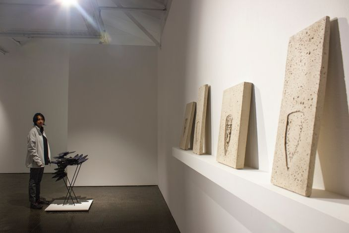 Exhibition View: Usha Seejarim,Angel of the house, SMAC Gallery, Cape Town (08 May 2021–19 June 2021). Courtesy SMAC Gallery.
