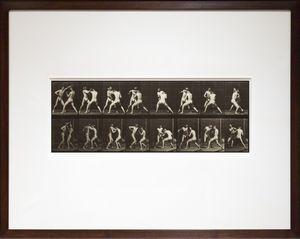 Boxing, open hand by Eadweard Muybridge contemporary artwork