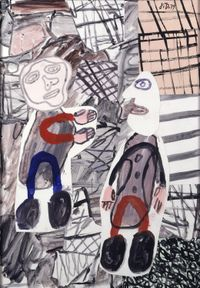 Fortuite rencontre by Jean Dubuffet contemporary artwork mixed media