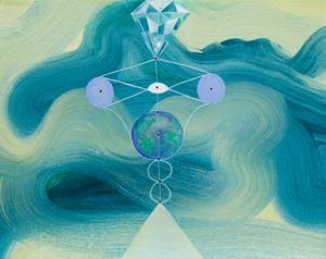 Diamond Eye World 《鑽石與眼睛的世界》 by Emily Cheng contemporary artwork