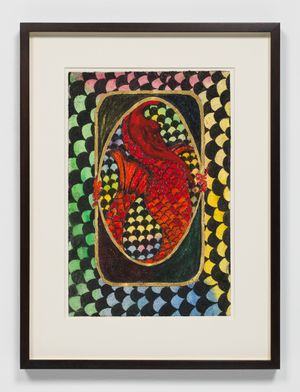 Dangerous Liaisons Red 2 by Chris Ofili contemporary artwork