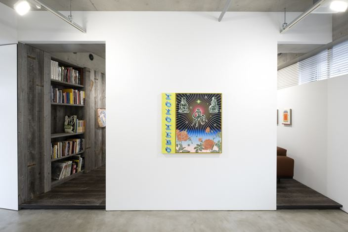 Installation view, artwork, left to right: Jennifer Rochlin; Jaime Muñoz; Lily Stockman. Courtesy of MAKI.