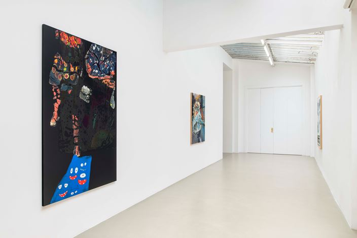 Exhibition view: Seth Price, Self As Tube, Galerie Chantal Crousel, Paris (25 May–20 July 2019). Courtesy the artist and Galerie Chantal Crousel, Paris. Photo: Martin Argyroglo.