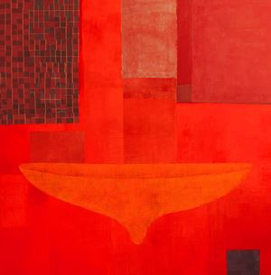 Red Alert! My Body My Space I by Pinaree Sanpitak contemporary artwork