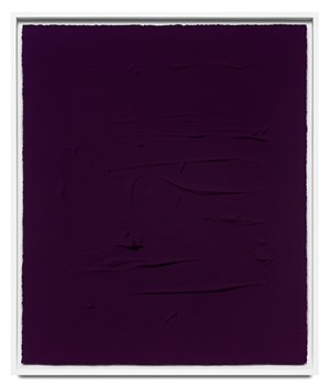 Ultramarine blue/ Quinacridone magenta I by Jason Martin contemporary artwork