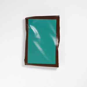 Hung 13 (Turquoise/Brown) by Angela De La Cruz contemporary artwork