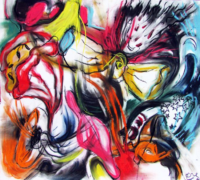 Pink Galaxy (Cosmic Poetry Series) by Kaung Su contemporary artwork
