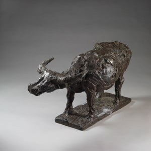 A Strolling Buffalo 慢行牛 by Hsiung Ping-Ming contemporary artwork