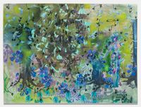 Long leaved flowers weep by Sarah Ann Weber contemporary artwork painting, works on paper, drawing