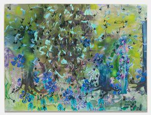 Long leaved flowers weep by Sarah Ann Weber contemporary artwork