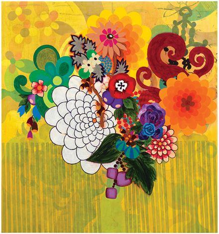 Beatriz Milhazes, Os Campeões (2001). Acrylic on canvas. 158 cm × 149 cm. ©Beatriz Milhazes.Courtesy Pace Gallery.