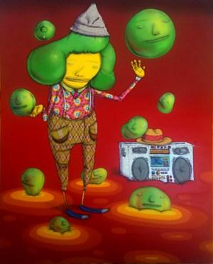 Cabelo Deçante (Hair Dancing) by OSGEMEOS contemporary artwork