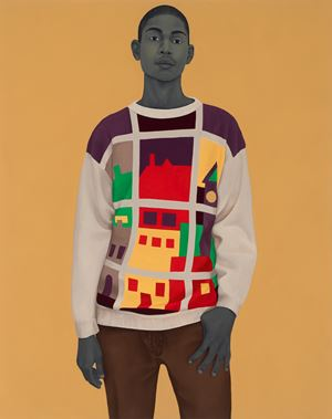 A single man in possession of a good fortune by Amy Sherald contemporary artwork