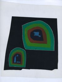 pin-wash Stones straight om by Dom Sylvester Houédard contemporary artwork works on paper