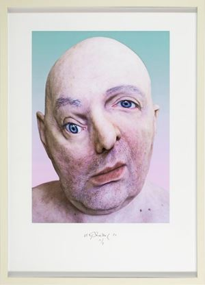 Selfportrait from the Series THE ENEMY by Urs Lüthi contemporary artwork