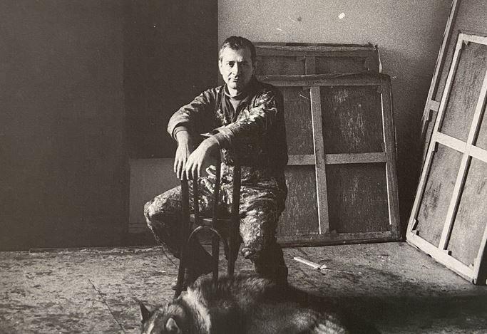 Luis Feito in his studio Paris, 1960.