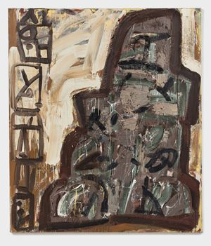 Witness and Tower by Basil Beattie contemporary artwork