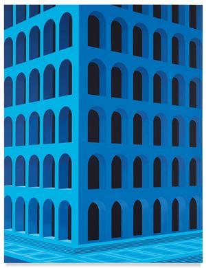 City Square at 4 am (Palazzo della Civiltà Italiana, Large Version) by Daniel Rich contemporary artwork