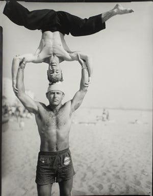 Headstand, Muscle Beach, Santa Monica, CA by Larry Silver contemporary artwork