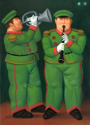 Circus Musicians by Fernando Botero contemporary artwork
