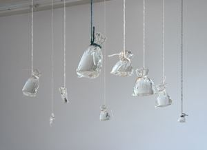 Try it with less pennies and direct light by Kate Newby contemporary artwork