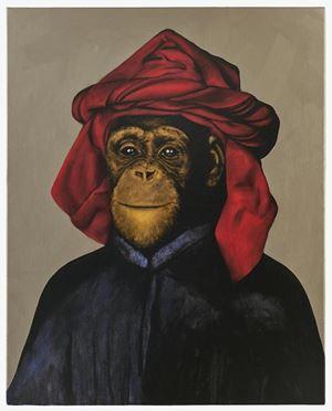 Le Singe Peintre XXVIII by Stefan à Wengen contemporary artwork