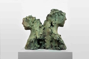 Two Immovable Heads by Mark Manders contemporary artwork