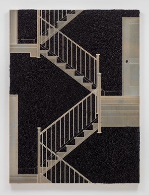 Pleated Ink, Staircase with Landing by Analia Saban contemporary artwork